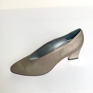 Vintage d'Rossana by Charna Pewter Heels